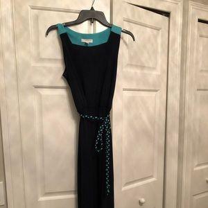 Kenar two tone maxi dress